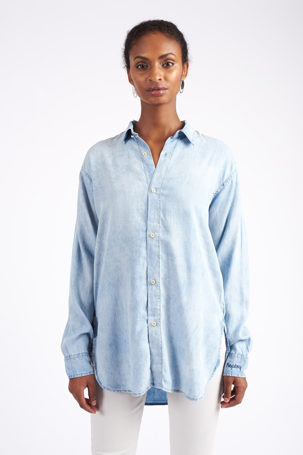 a8bf53204651 ... Replay Shirt DENIM Model front ...