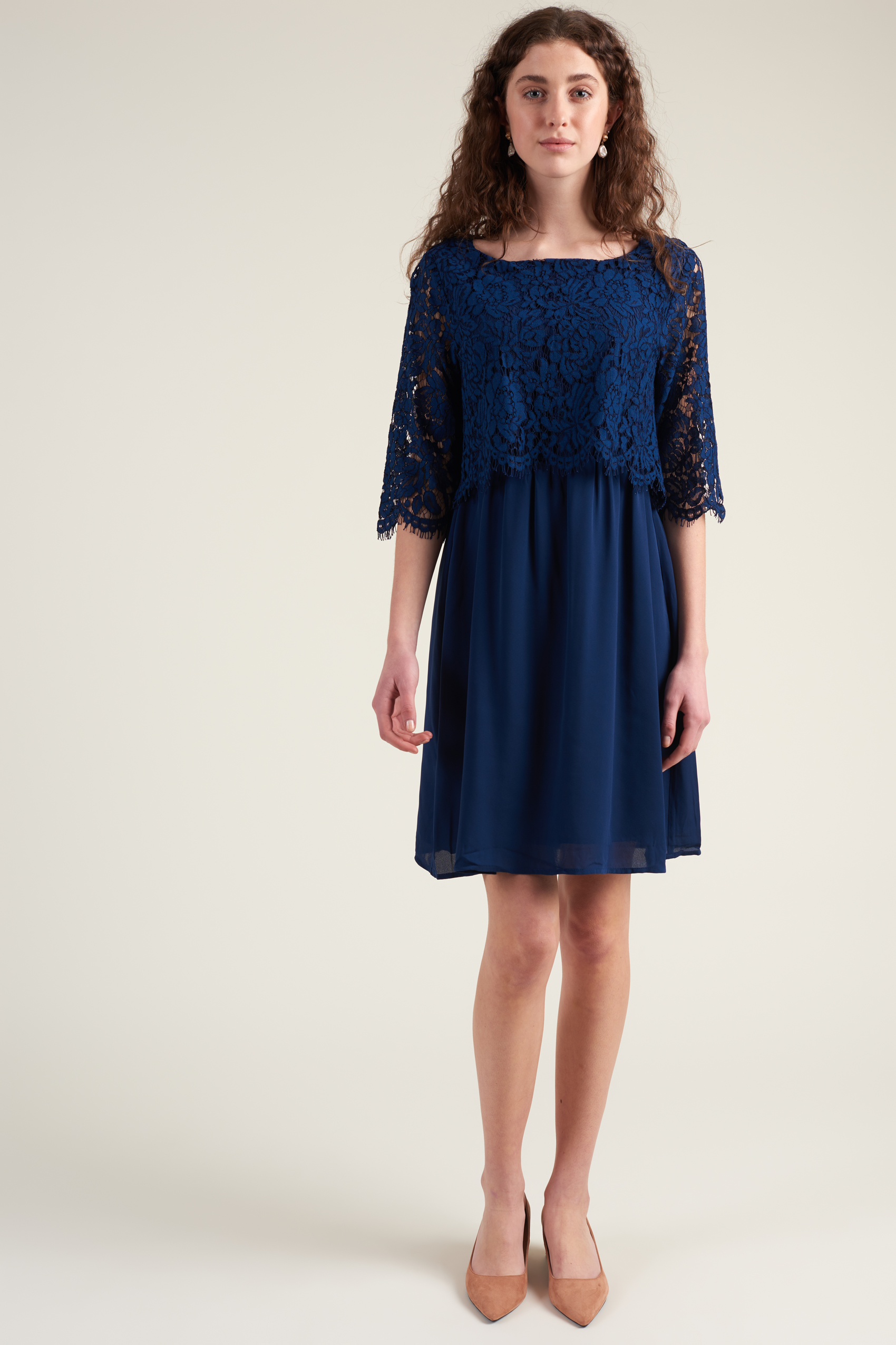 Saint Tropez Klänning Party Dress W Lace Blå